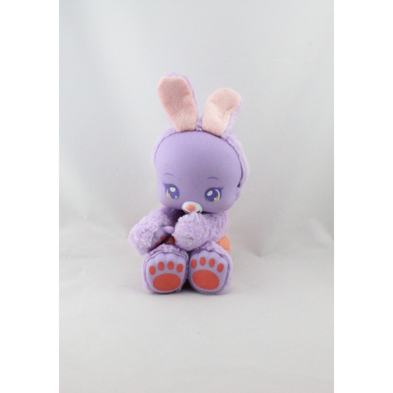 Doudou sonore lapin mauve couche ZOOPY BAOBAB