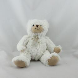 Doudou ours blanc beige HISTOIRE D'OURS