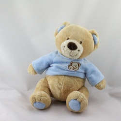 Doudou ours beige pull bleu NICOTOY