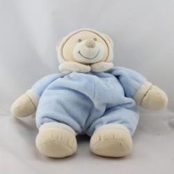 Doudou ours écru pyjama bleu JOLLYBABY