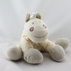 Doudou poney écru beige gris rouge KIABI