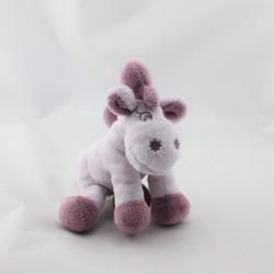 Doudou poney cheval parme violet Jack Tidou NOUKIE'S