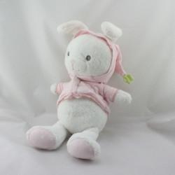 Doudou lapin blanc rose étoiles ORCHESTRA PREMAMAN