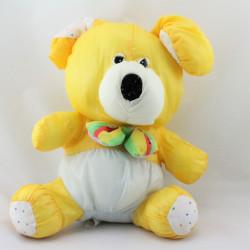 Peluche Puffalump chien jaune bleu pois