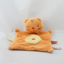 Doudou plat chat orange NICOTOY