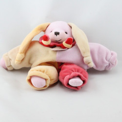 Doudou et compagnie semi plat lapin lapinou arlequin