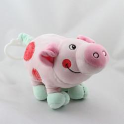 Doudou musical cochon rose vert NOUNOURS