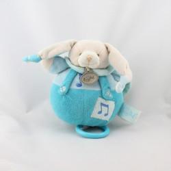 Doudou musical Lapin bleu blanc Baby nat