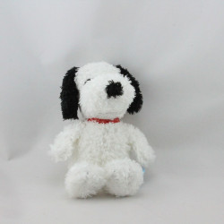 Doudou Peluche chien blanc noir Snoopy PEANUTS