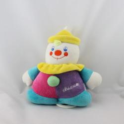 Doudou musical clown rose violet bleu jaune CHICCO