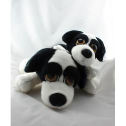 Peluche chien noir blanc MARSHMALLOW RUSS BERRIE