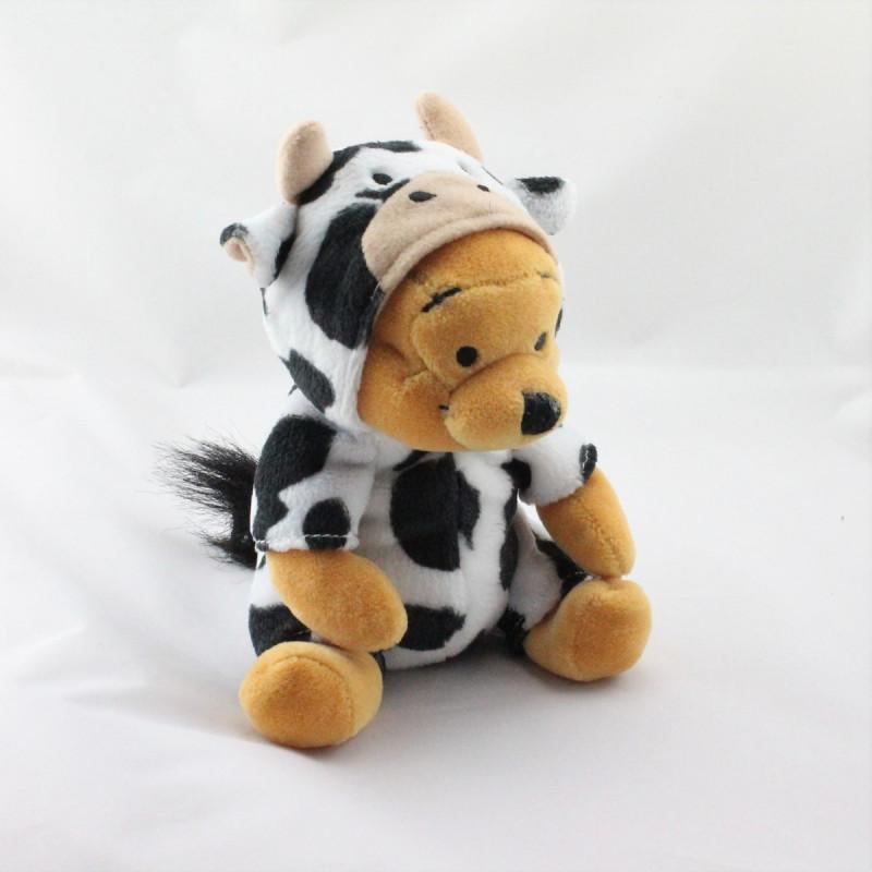 Peluche Winnie l'ourson déguisé en vache Collection Disney