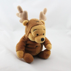 Peluche Winnie l'ourson déguisé en cerf renne elan Collection Disney
