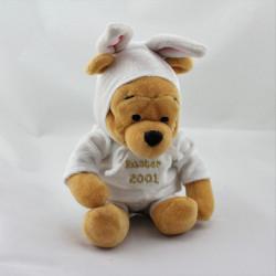 Peluche Winnie l'ourson déguisé en lapin blanc Collection Disney Easter 2001