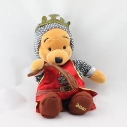 Peluche Winnie l'ourson déguisé en roi ST Georges Collection Disney