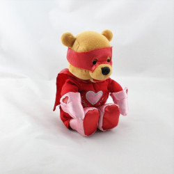 Peluche Winnie l'ourson déguisé en super héros love Collection Disney