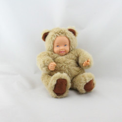 Poupée ours beige ANNE GEDDES 22 cm