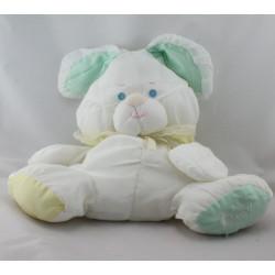 Peluche Puffalump lapin blanc vert jaune