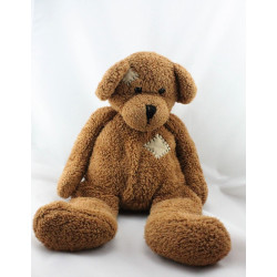 Doudou chien marron TIAMO COLLECTION