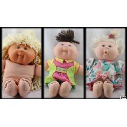 Ancienne Poupée Cabbage patch kid doll MATTEL Année 1988-1993 lot de 3