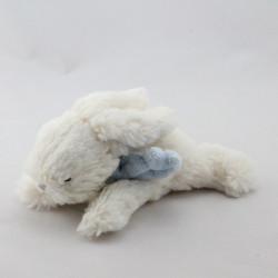 Mini Doudou lapin blanc bleu JACADI