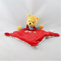 Doudou plat winnie l'ourson rouge bleu blanc étoiles cubes DISNEY NICOTOY