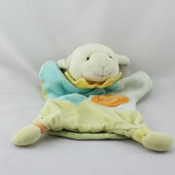 Doudou et compagnie plat marionnette mouton vert bleu orange