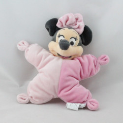 Doudou semi plat souris Minnie rose DISNEY BABY