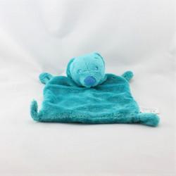 Doudou plat ours bleu turquoise KIABI SIMBA TOYS