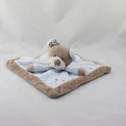 Doudou plat carré ours bleu beige KIABI SIMBA TOYS