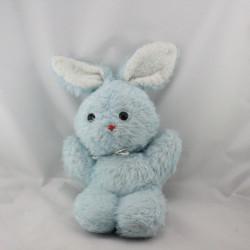 Ancienne peluche lapin bleu CHAMTI