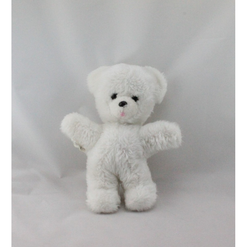 Doudou Peluche ours blanc BOULGOM