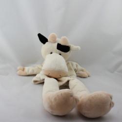 Doudou marionnette vache blanche noir HISTOIRE D'OURS