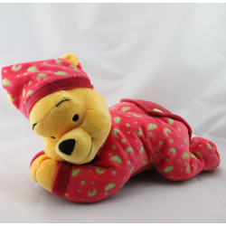 Doudou winnie rouge nuages lunes phosphorescent DISNEY
