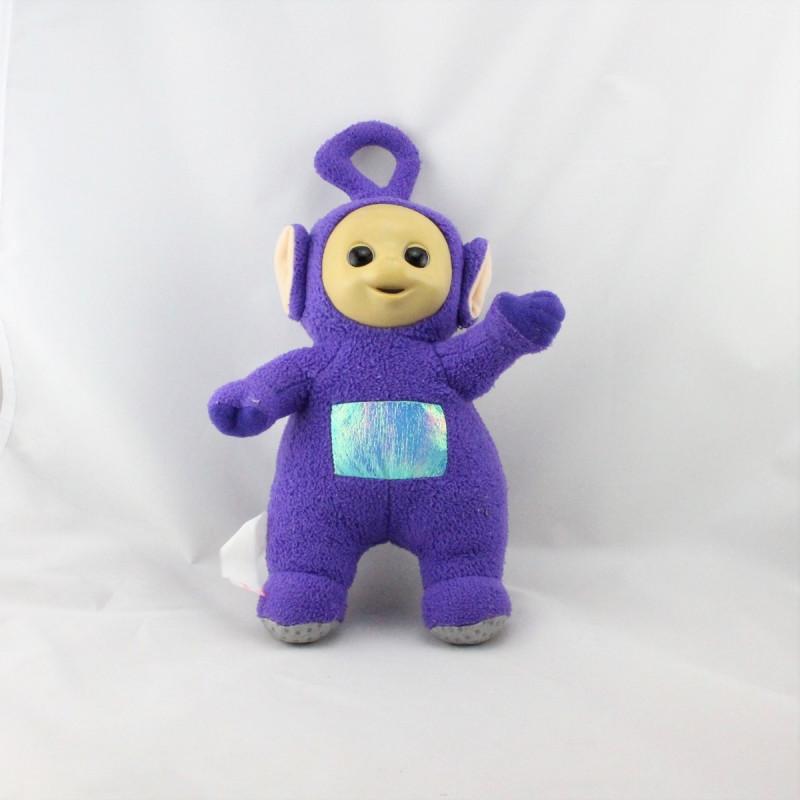 Doudou peluche TELETUBBIES violet Tinky Winky TOMY 35 cm