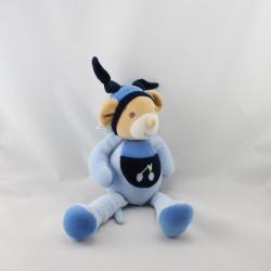 Doudou souris bleu Cerise NOUNOURS