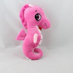 Doudou peluche hippocampe rose SANDY