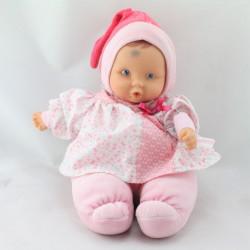 Doudou bébé poupée Baby Pouce rose fleurs papillons COROLLE 2012