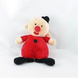 Doudou Bumba clown rouge noir STUDIO 100
