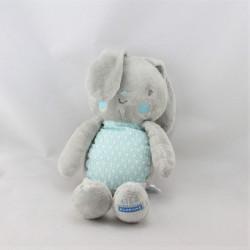 Doudou Lapin gris bleu KLORANE
