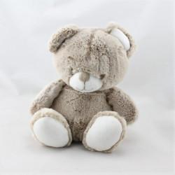 Doudou ours marron blanc TEX