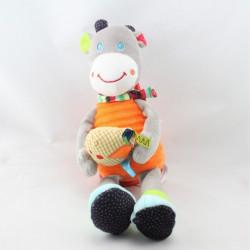 Doudou musical girafe grise orange oiseau OUATOO BABY