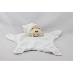 Doudou plat étoile ours blanc KALOO