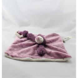 Doudou plat chat violet beige Les Zazous MOULIN ROTY