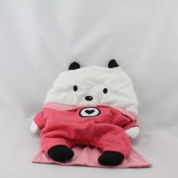 Doudou range pyjama ours rose blanc super héros SERGENT MAJOR