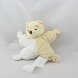Doudou semi plat Winnie l'ourson jaune blanc DISNEY BABY