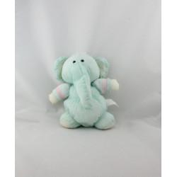 Peluche Puffalump éléphant vert rose blanc