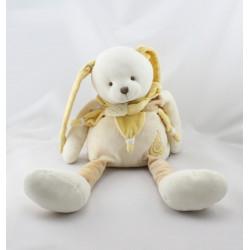 Doudou et compagnie lapin Douvelours jaune beige écru poire