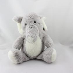 Peluche éléphant gris MAX ET SAX
