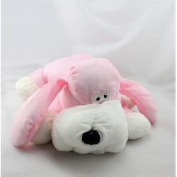 Peluche Puffalump chien rose blanc